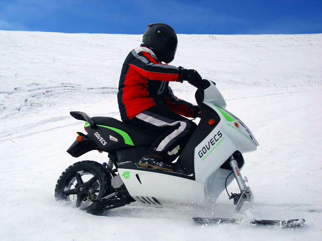 scooter in snow