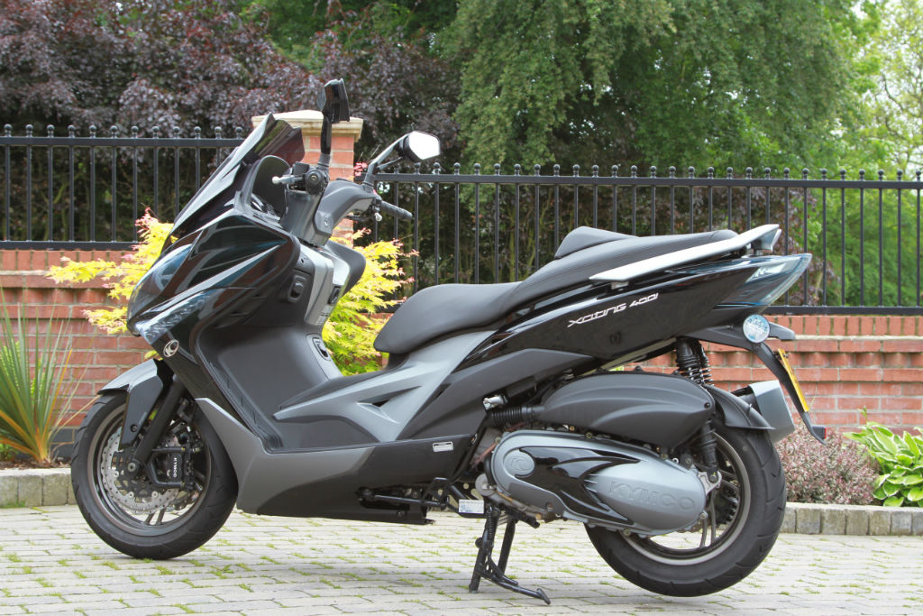 kymco xciting 400i maxi scooter road tests 2commute. Black Bedroom Furniture Sets. Home Design Ideas