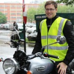 Leicester finish Nathan, UK Marketing Coord. Triumph Motorcycles (Triumph Bonneville)