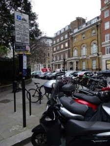 Parking bays in St James's Square...